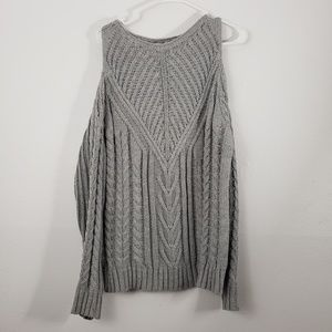 Miami Chunky Cold Shoulder Cable Knit Sweater
